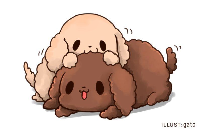 2匹のイヌ