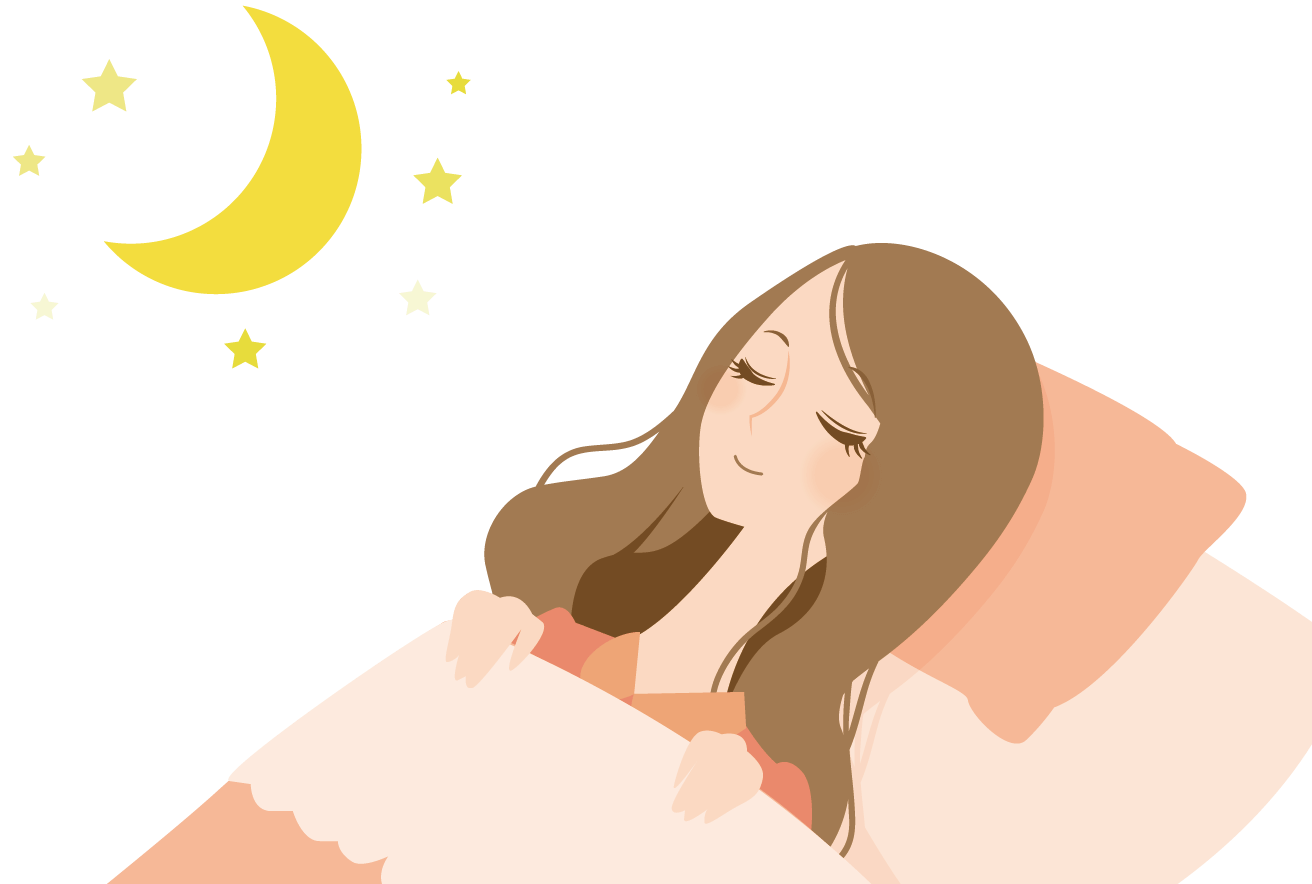 睡眠を取る女性