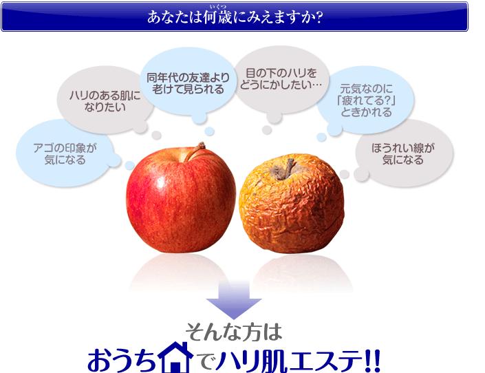 リフトアップクリームしわしわリンゴ