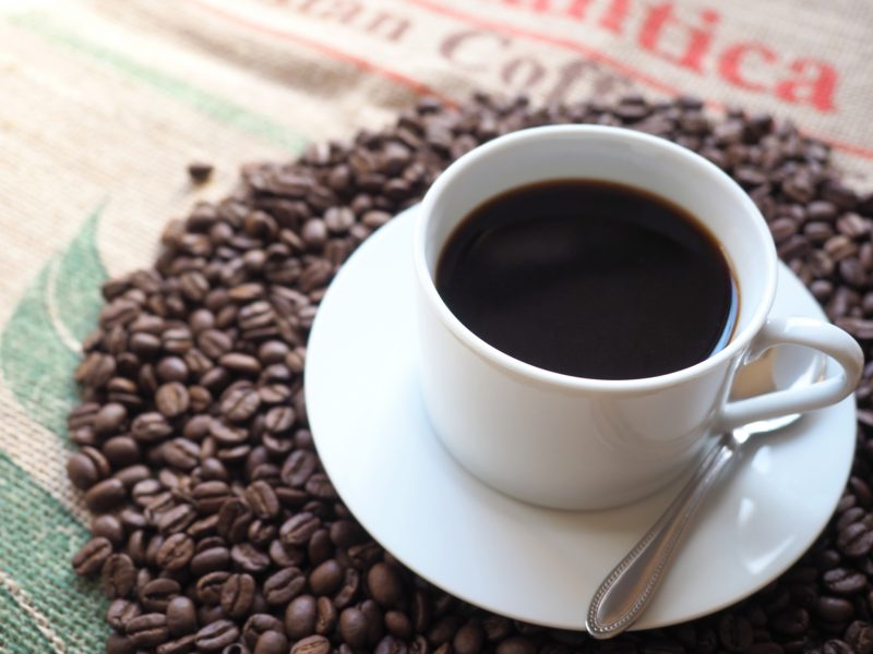 コーヒーと豆が沢山