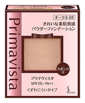 ソフィーナのプリマヴィスタきれいな素肌質感パウダーファンデーション