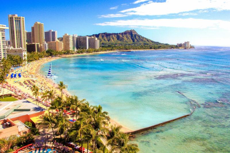 ハワイ・ワイキキビーチの画像