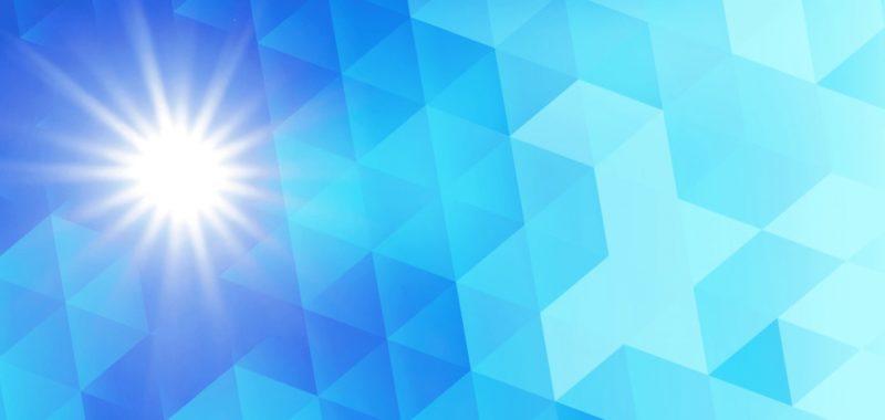 照りつける太陽光の画像