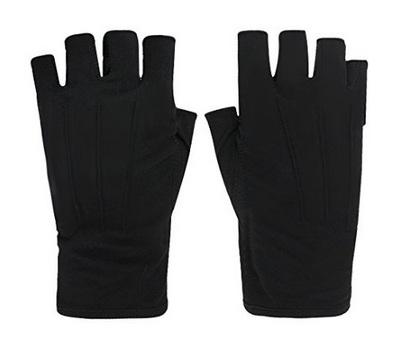 紫外線対策手袋、黒のハンドグローブ