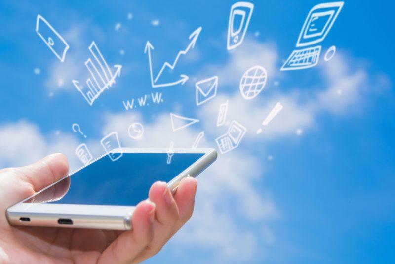 スマートフォンとアプリケーションの絵