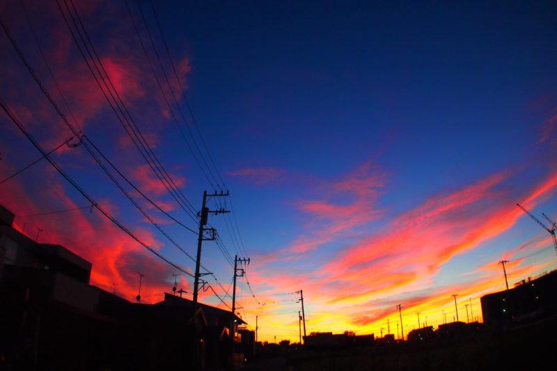 綺麗な朝焼けの画像