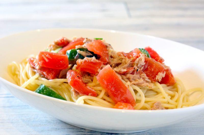 トマトの和風冷製パスタのイメージ画像