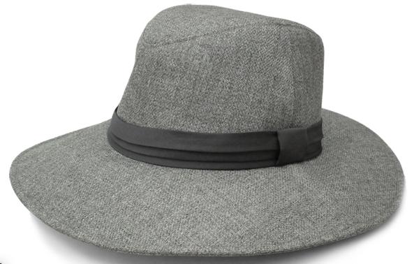 ロサブランの秋冬用UVカット帽子のグレー
