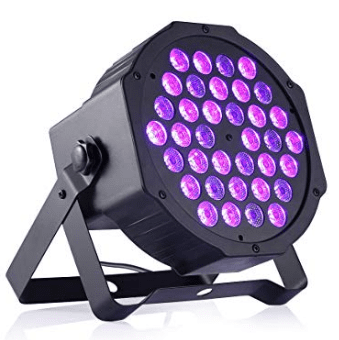 TECKEPICのブラックライト36個LED紫外線ライト音声起動自走機能付きステージライト単色ビームUVライトポータブルサイズ