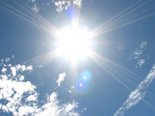 空から照り付ける太陽