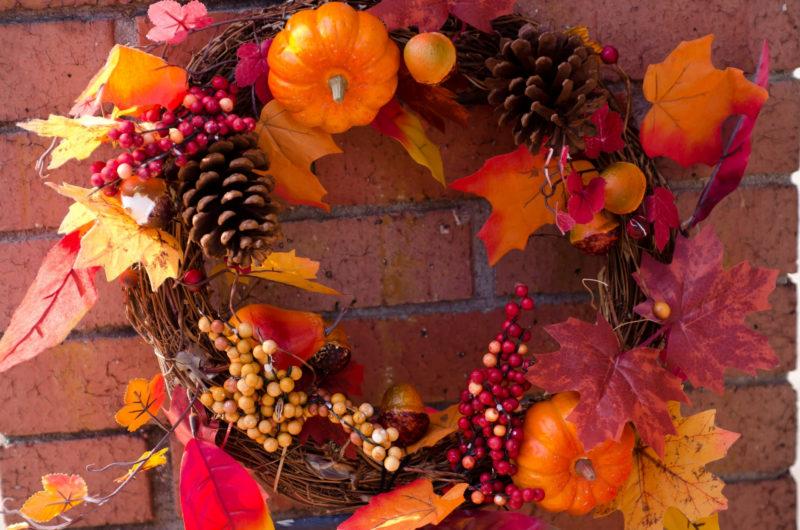 秋をイメージしたリース