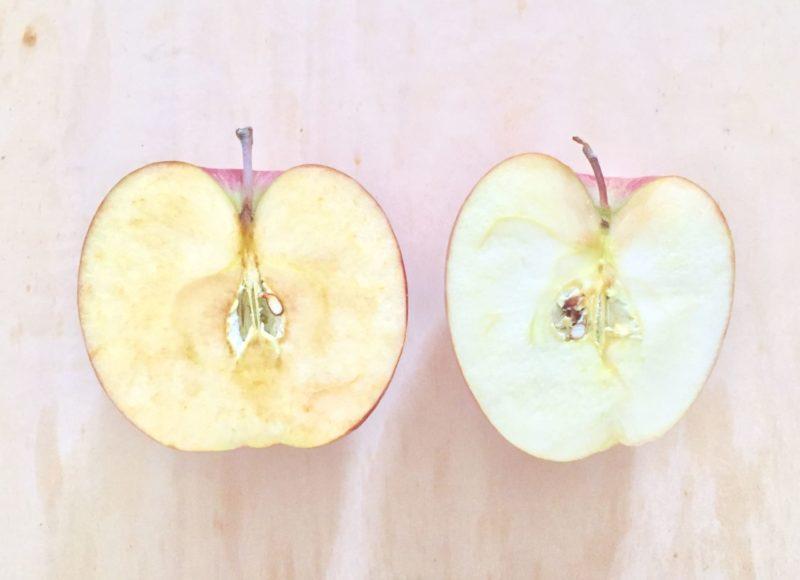 リンゴ 劣化していく肌のイメージ