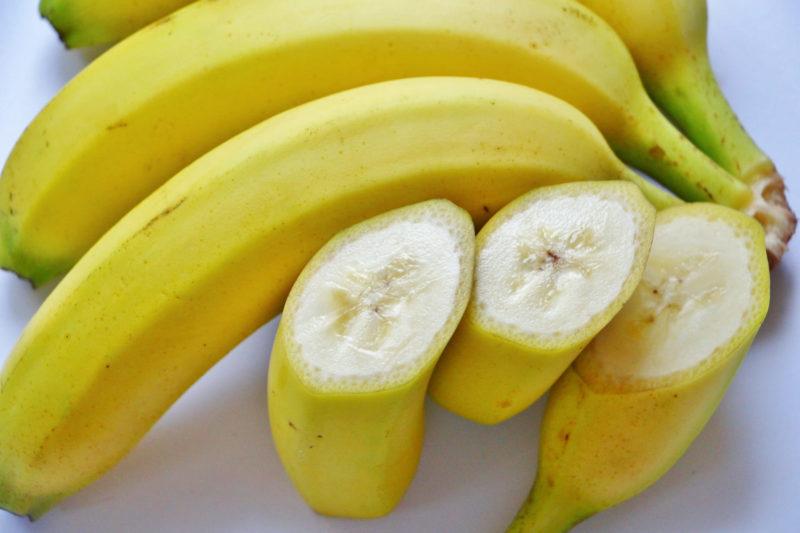 カットされたバナナの画像