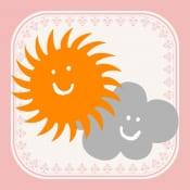 おしゃれ天気のアプリ、イメージ画像