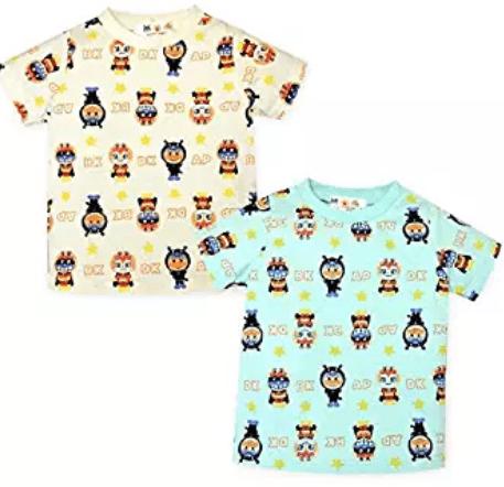 アンパンマン着ぐるみ総柄プリントTシャツの商品画像