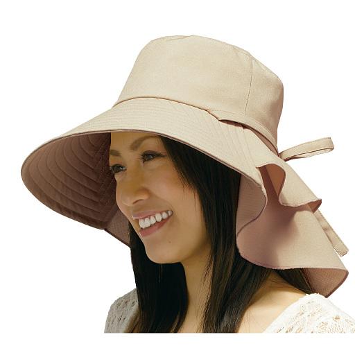 首筋涼感エレガント帽子
