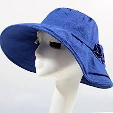青色のコットンサンハット