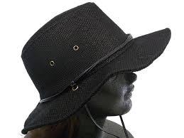 黒色のサファリハット