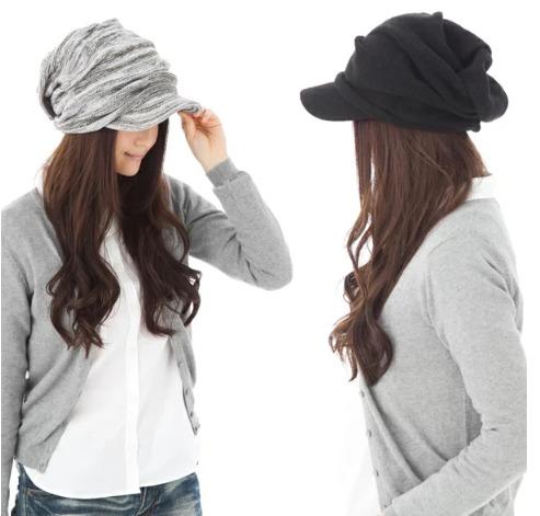 帽子屋クイーンベッド・くしゅッとニットキャスケットの商品画像