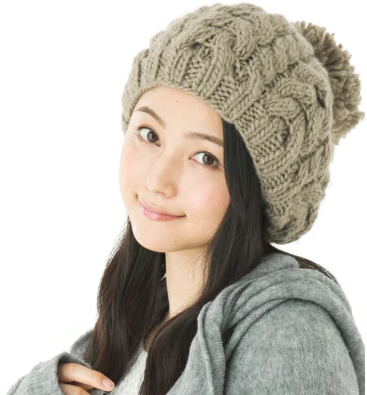 帽子屋クイーンヘッド ・ビッグボンボンニットベレー帽の商品画像