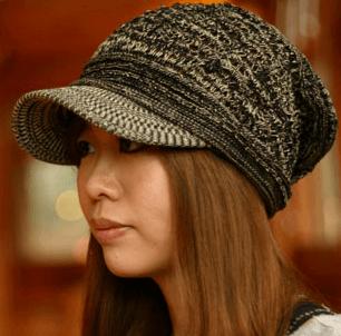 handycaps・つば付きニットキャップ かぎ編みの商品画像