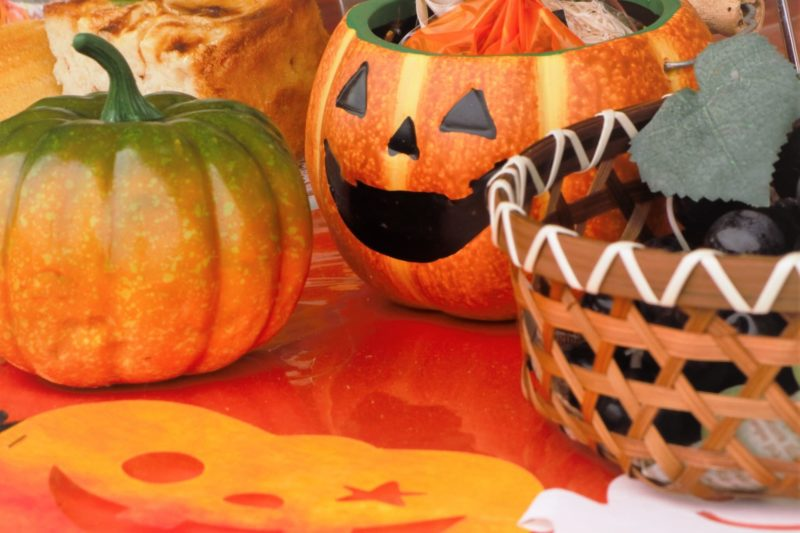 ハロウィンの飾りになるカボチャ達