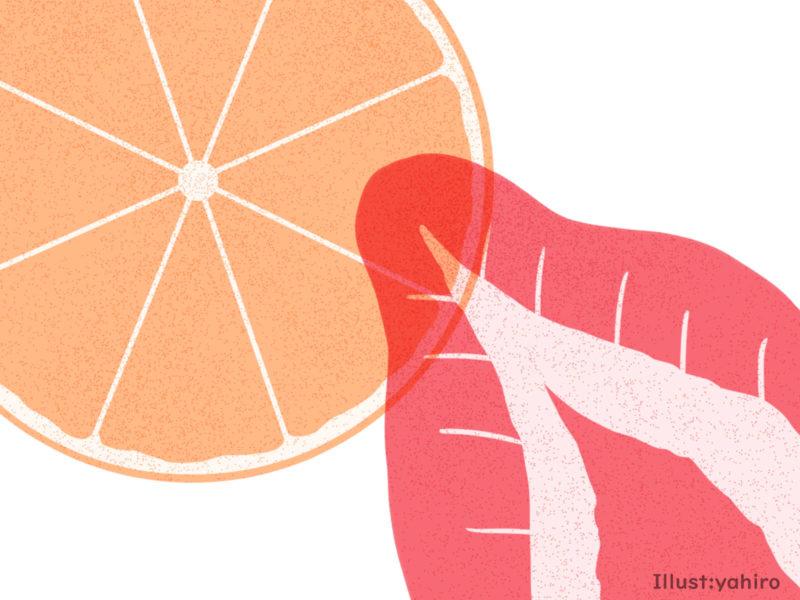 オレンジとイチゴ