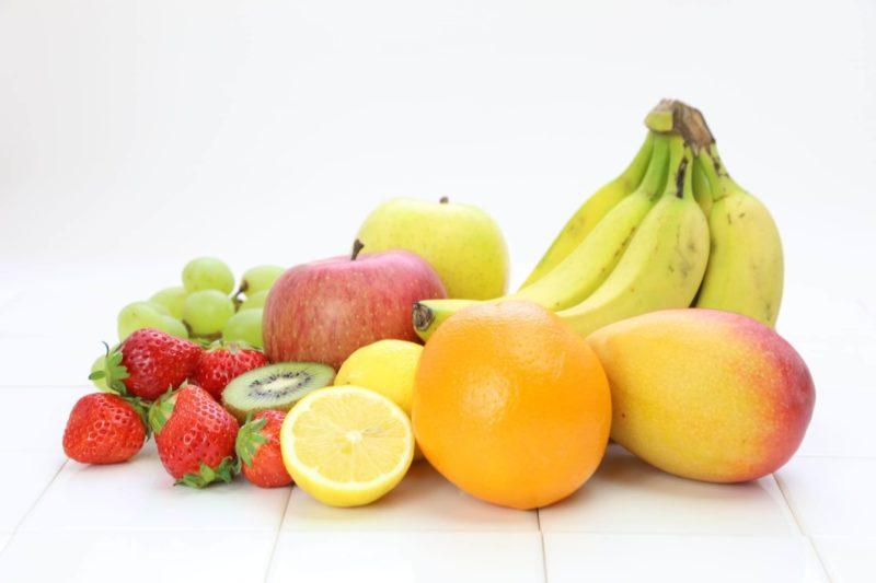 きれいに置かれた果物達