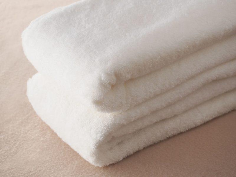 しっかりしてそうな白いタオル