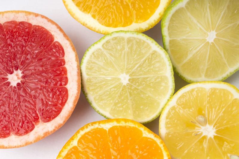 フレッシュな柑橘系フルーツ