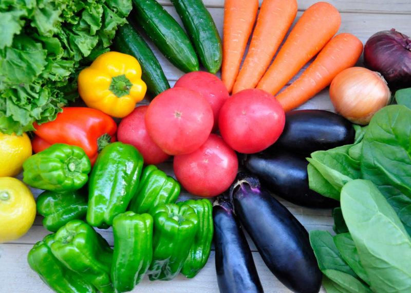 様々な野菜が写っている画像