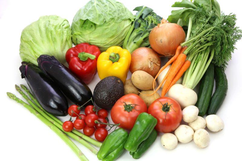 何種類ものたくさんあるお野菜達