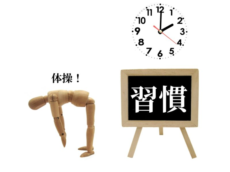 生活習慣を表した画像