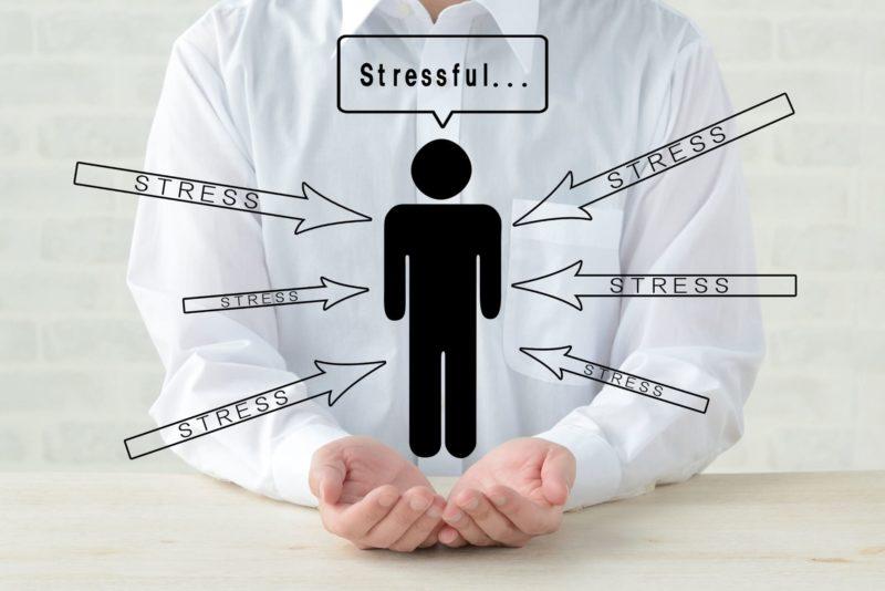 人がストレスを受け続けるとどうなるかのイラスト