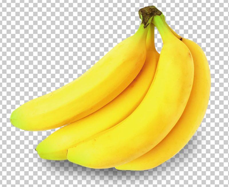 机に置かれたひとふさのバナナ