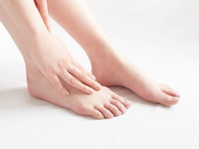 足の乾燥の影響を強く受けるかかと