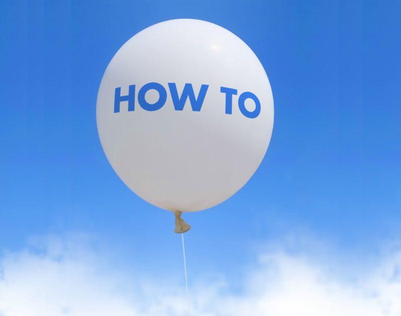 HOW TOホワイトバルーン
