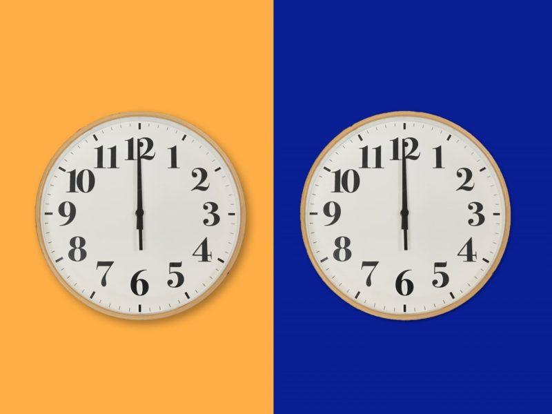 朝と夜それぞれの12時