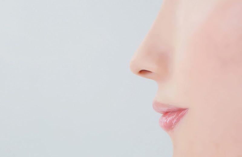 綺麗な輪郭をした口と鼻の横顔ショット
