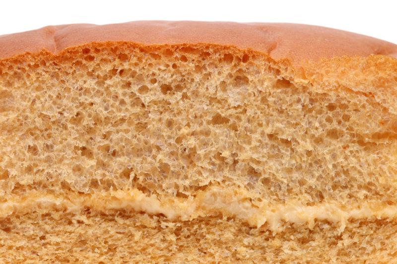 パンやスポンジケーキの中の断面